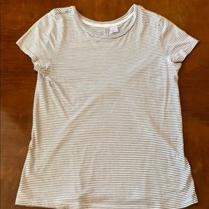 Striped T-shirt black and white size M